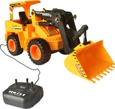 9 Perfect Wired Remote Control Battery Operated JCB Crane Truck Toy