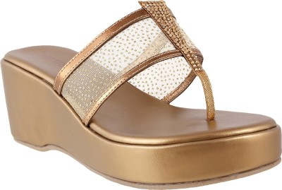 Metro Women 28,Antiq-Gold Wedges
