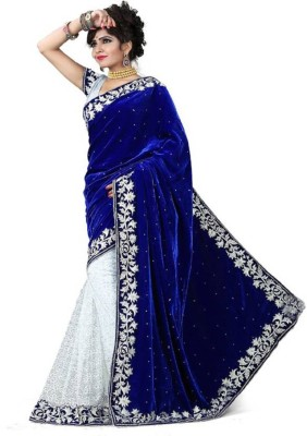 Bolly Lounge Embroidered Fashion Velvet Saree
