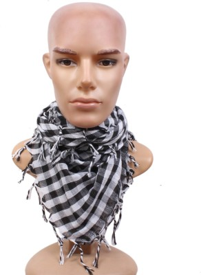 Sushito Checkered Cotton Men & Women Scarf