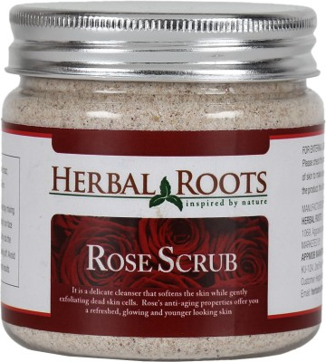 Herbal Roots Skin Care 100% Natural Beauty Product - Rose Face and Body Scrub