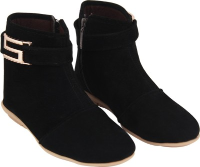 ABJ Fashion S Buckle Women's Stylish Black Boots For Women