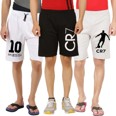 Hotfits Graphic Print Men's Multicolor Basic Shorts