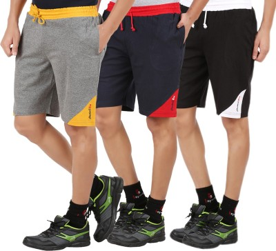 Checkersbay Solid Men Multicolor Regular Shorts