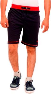 Vego Solid Men Dark Blue Bermuda Shorts
