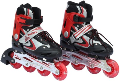 Inline Kids Shoes Metal Body In-line Skates - Size 3.5-6.5 UK