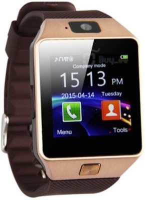 crushacc with SIM card, 32GB memory card slot, Bluetooth and Fitness Tracker BROWN Smartwatch