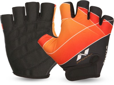 Nivia Crystal Gym & Fitness Gloves (S, Red)
