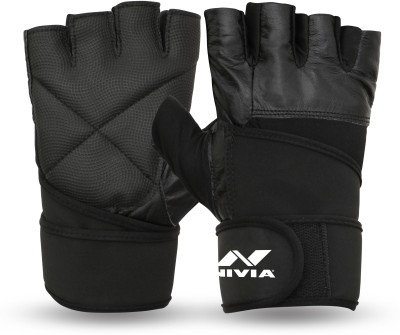Nivia ProWrap Gym & Fitness Gloves (S, Multicolor)