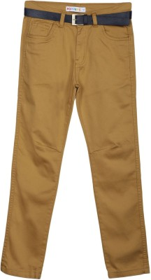 Poppers by Pantaloons Regular Fit Boys Brown Trousers