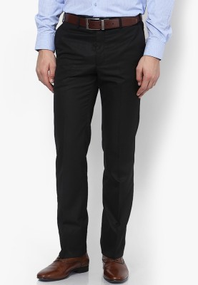 AD & AV Regular Fit Men's Black Trousers