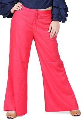 pravin Regular Fit Women Red Trousers