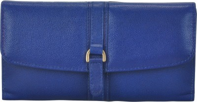 VALENORE Women Casual Blue Genuine Leather Wallet