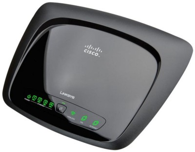Cisco Linksys WAG120N Wireless-N Home ADSL2 Modem Router Black