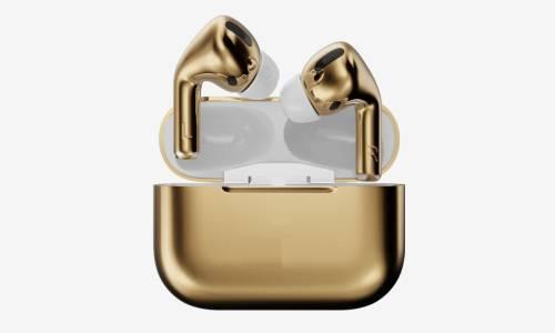 vaghanitechnologies golden pro Bluetooth Headset(Gold, True Wireless)