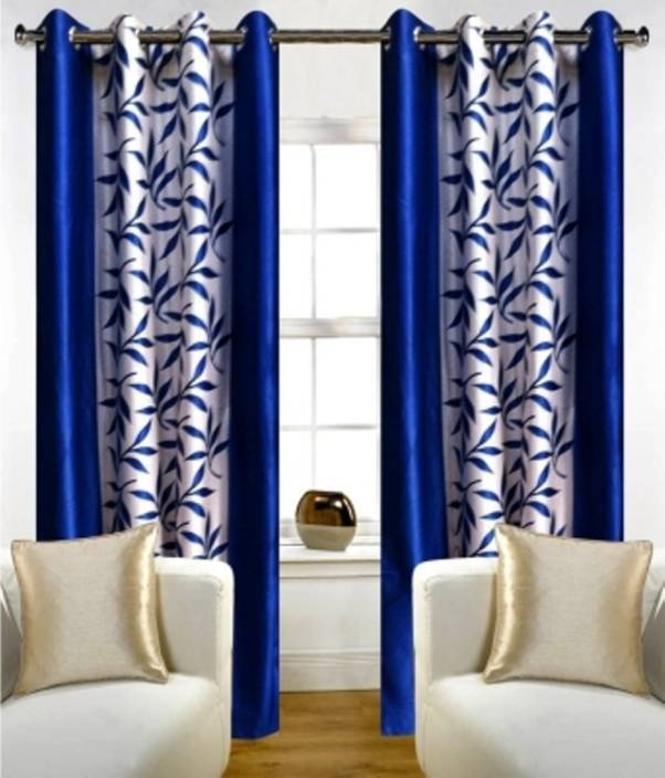 Red Hot 153 cm (5 ft) Polyester Window Curtain (Pack Of 2)