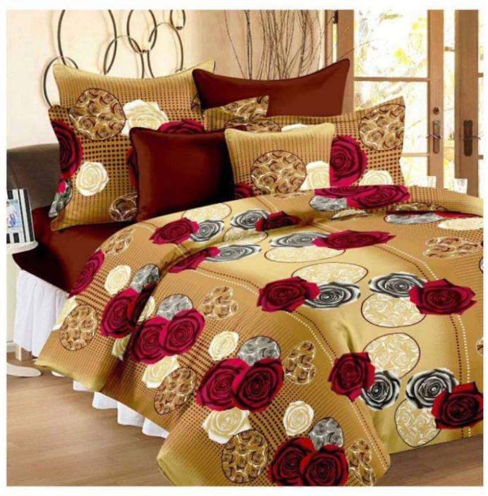 Classio 144 TC Polyester Double King 3D Printed Bedsheet