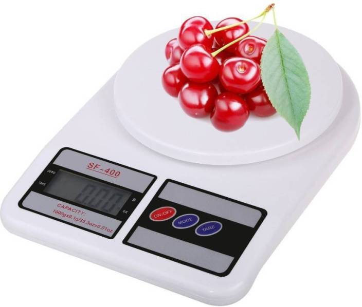 Mezire Electronic Digital 10 Kg Weight Scale Lcd Kitchen Weight Scale Machine Measure for measuring fruits,Spice,Food,Vegetable And More Weighing Scale Weighing Scale  (White) Weighing Scale