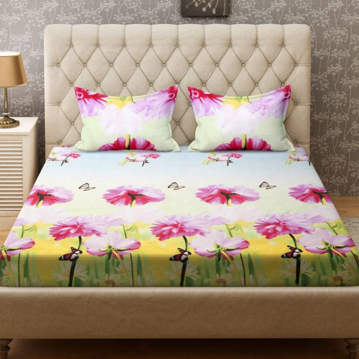 Bombay Dyeing 160 TC Polycotton Double Printed Bedsheet