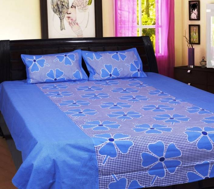 Rhome 144 TC Cotton Double Abstract Bedsheet