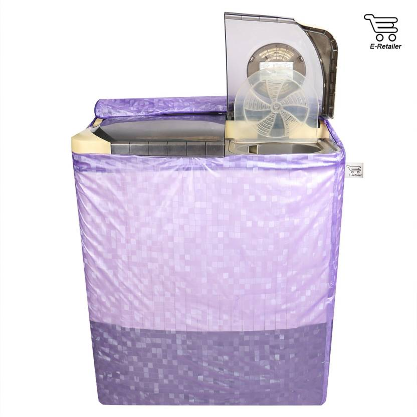 E Retailer Semi Automatic Washing Machine Cover Purple