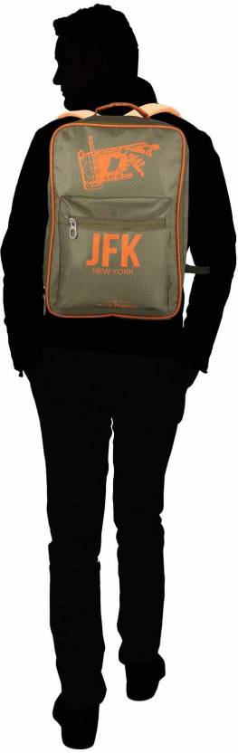 Shopharp airport army 12 L Laptop Backpack Green
