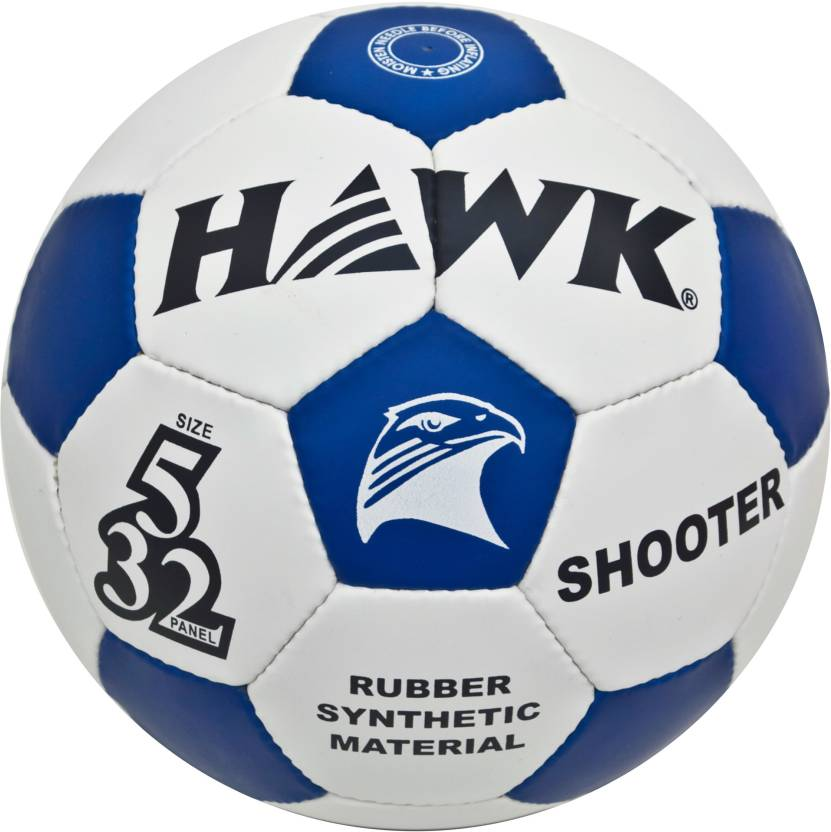 HAWK SHOOTER FOOTBALL Football   Size: 5 Pack of 1, White, Blue