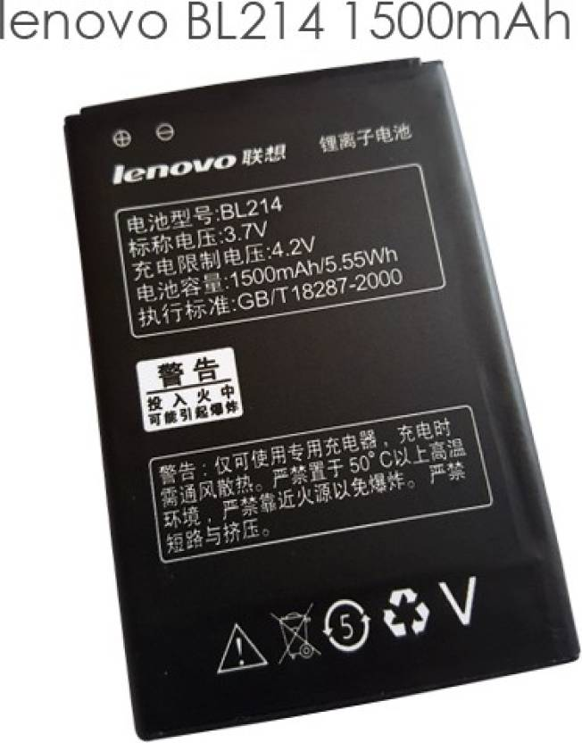 Lenovo Mobile Battery For LENOVO Lenovo A208t A218  BL214 1300mAh Battery