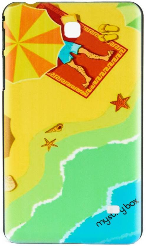 Mystry Box Back Cover for Samsung Galaxy Tab 4 T230 T231  7 inch  Beach World Multicolor