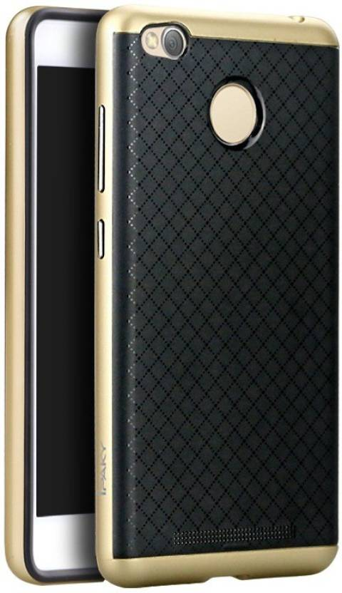 Ipaky Back Case Back Cover for Mi Redmi 3S Gold
