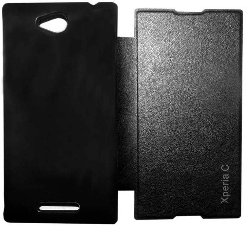 Esstain Flip Cover for SONY C2305 Xperia C Black