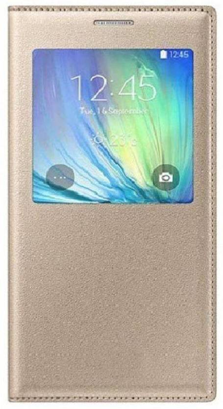 Sajni Creations Flip Cover for Mi Redmi Note 3 gold