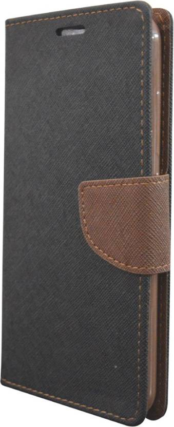 COVERNEW Flip Cover for SAMSUNG Galaxy On8 Black, Brown
