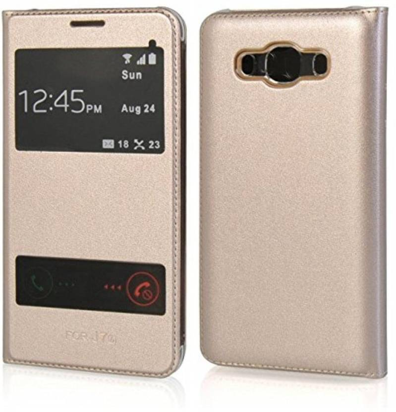 SmartLike Flip Cover for Samsung Galaxy C9 Pro Gold