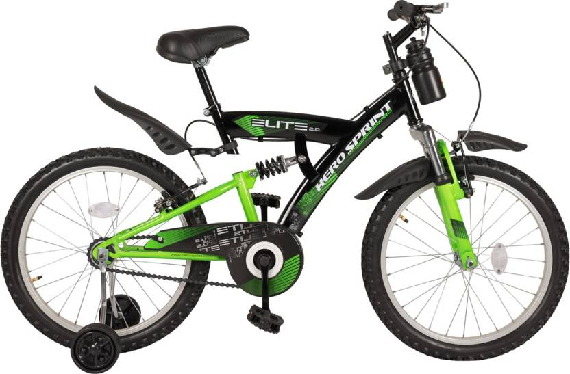 Hero Sprint 20T Elite 20 T Recreation Cycle Single Speed, Green, Black