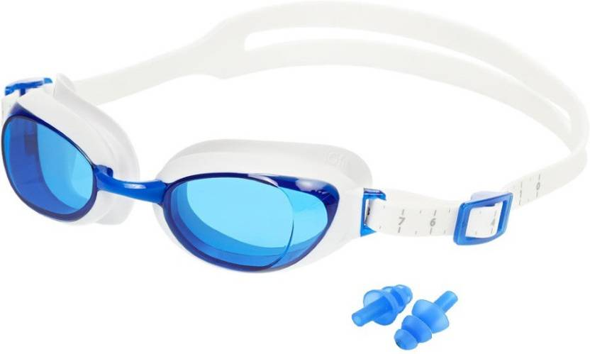 HE Retail UV Protection Ear Plug   Swimming Goggles Blue