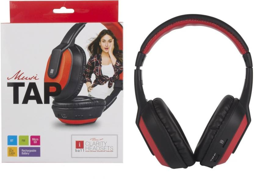 Iball musi tap Headphone Black, Over the Ear