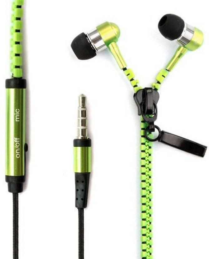 Fellkon Wickedleak Smartphones Headphone Green, In the Ear