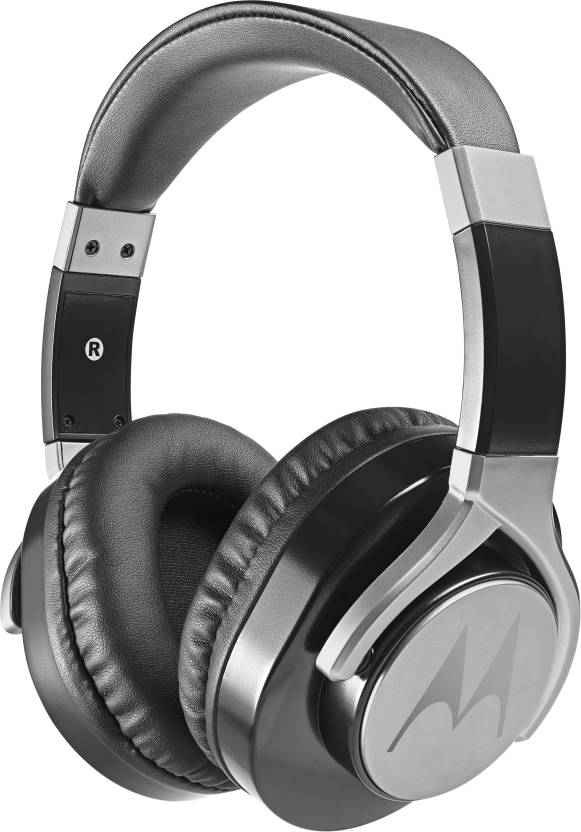 Motorola Pulse Max Wired Headset with Mic Black, Over the Ear