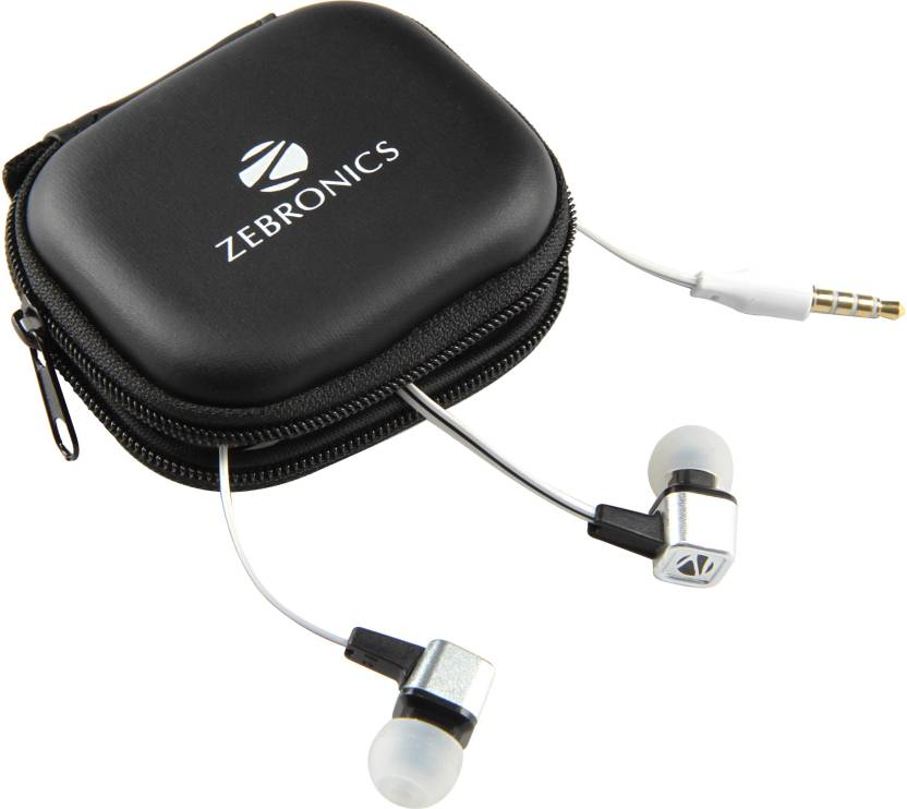 Zebronics Em1 White Wired Headset with Mic White, In the Ear