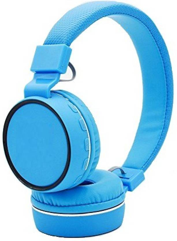 A Connect Z SH 10 Stylish Best Quality Headst MD 117 Bluetooth Headset with Mic Blue, Over the Ear