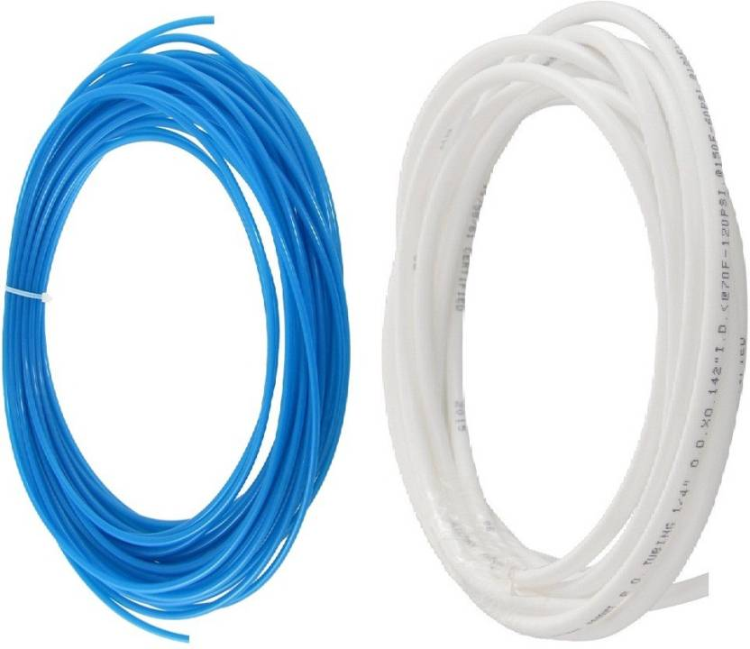 BalRama RO Service Pipe/Tube 1/4 inch Outer Diameter White Blue Approx 6 metres total length Water Purifier Filter Tubing for RO UV UF Mineral Water F