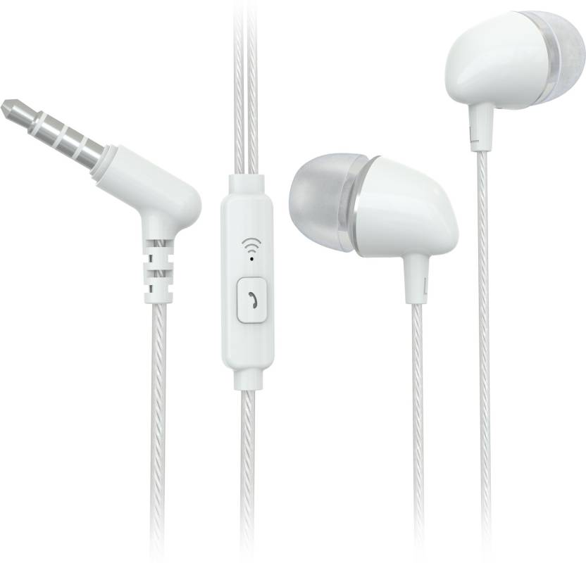 Flipkart SmartBuy Wired Headset With Mic White, In the Ear