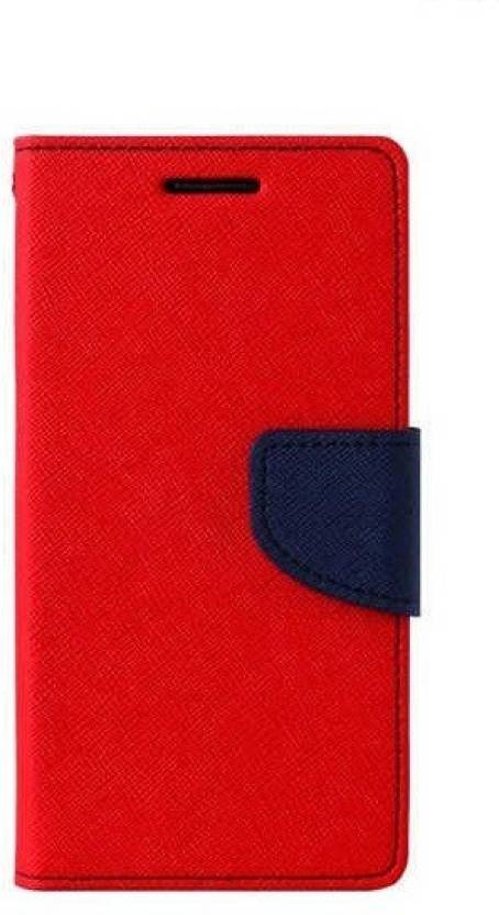 GadgetM Flip Cover for Lenovo A6600 Red