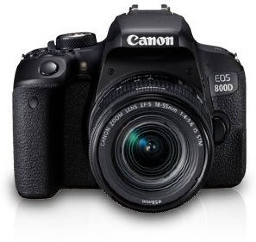 Canon EOS 800D DSLR Camera Body with Single Lens: EF S18 55 IS STM  16  GB SD Card + Camera Bag  Black