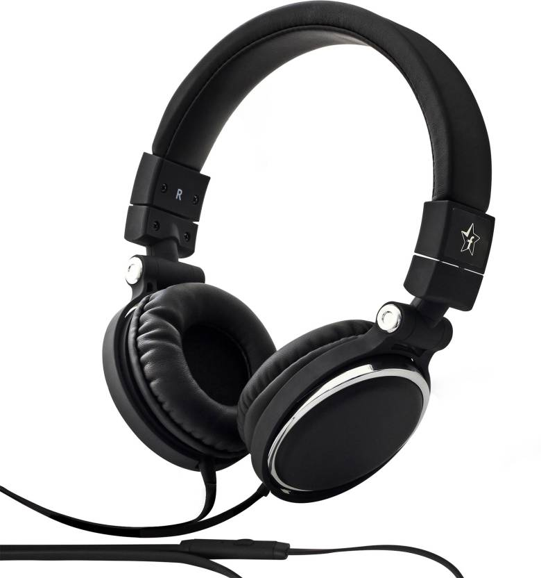 Flipkart SmartBuy Wired Headset With Mic Black, Over the Ear
