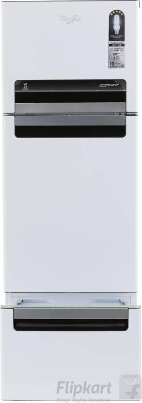 Whirlpool 240 L Frost Free Triple Door Refrigerator Mirror White  N , FP 263D PROTTON ROY MIRROR WHITE  N