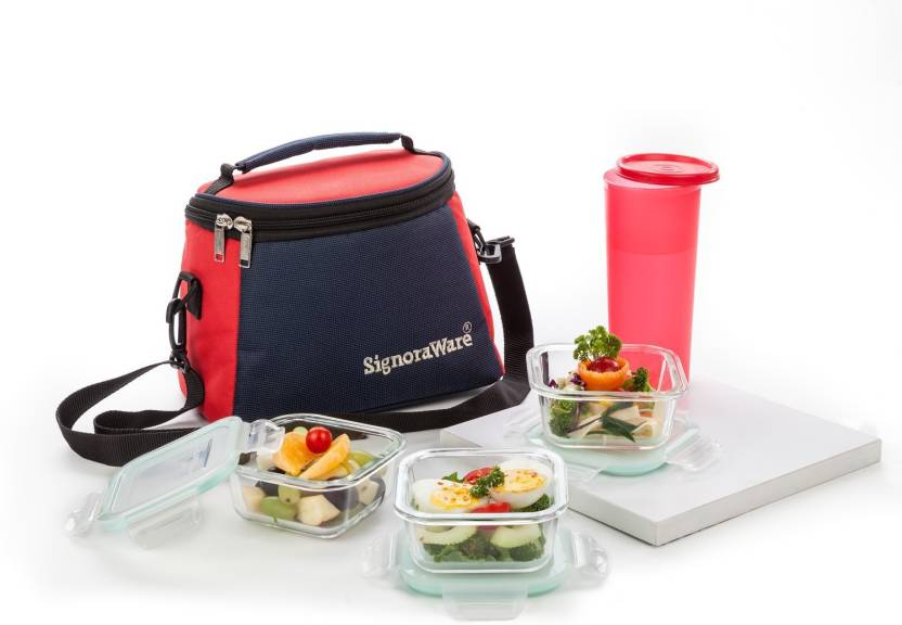 Signoraware Best Glass 4 Containers Lunch Box 1430 ml