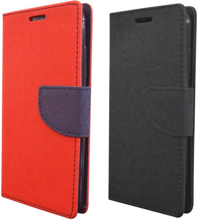 Coverage Flip Cover for Samsung Galaxy J7 Prime Red, Black