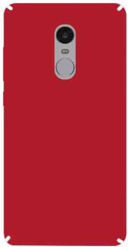 Doyen Creations Back Cover for Mi Redmi Note 4 Red
